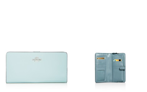 COACH Skinny Continental Leather Wallet - Bloomingdale's_2