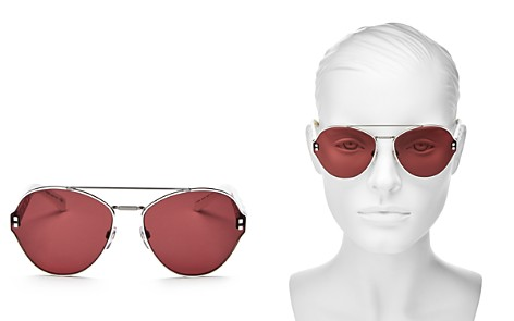 Valentino Women's Rockstud Brow Bar Round Sunglasses, 60mm - Bloomingdale's_2