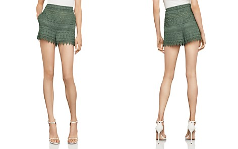 BCBGMAXAZRIA Scalloped Lace Shorts - Bloomingdale's_2