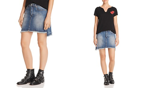 Zadig & Voltaire x AQUA Frayed Denim Mini Skirt - 100% Exclusive - Bloomingdale's_2