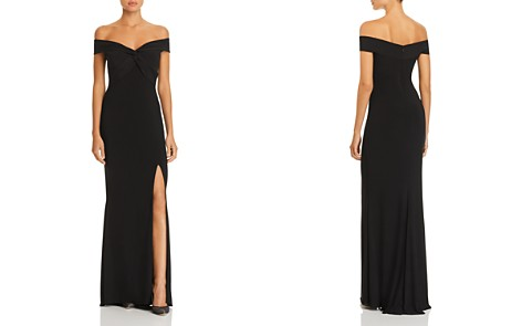 AQUA Off-the-Shoulder Twist Front Gown - 100% Exclusive - Bloomingdale's_2