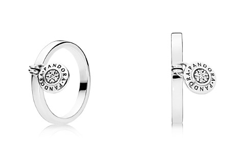 PANDORA Sterling Silver & Cubic Zirconia Signature Ring - Bloomingdale's_2