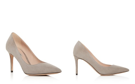 Giorgio Armani Women's Decollete Suede Pointed Toe Pumps - Bloomingdale's_2