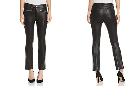 rag & bone/JEAN Braxton Cropped Flared Leather Pants - Bloomingdale's_2