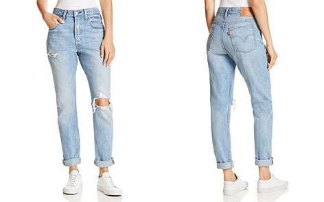 Levi's 501 Destruct Slim Jeans in Can't Touch This - Bloomingdale's_2