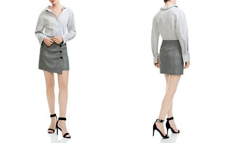 Maje Raime Mixed Print Mini Shirt Dress - Bloomingdale's_2