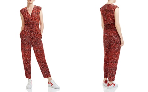 Maje Pioma Smocked Leopard-Print Jumpsuit - Bloomingdale's_2