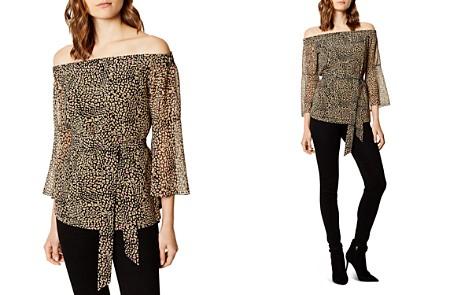 KAREN MILLEN Leopard Print Off-the-Shoulder Top - Bloomingdale's_2