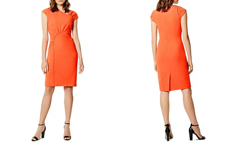KAREN MILLEN Asymmetric Gathered Dress - Bloomingdale's_2