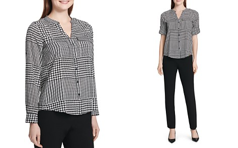 Calvin Klein Abstract Plaid Utility Shirt - Bloomingdale's_2