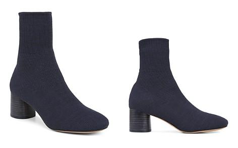 Vince Women's Tasha Round-Toe Mid-Heel Knit Booties - Bloomingdale's_2