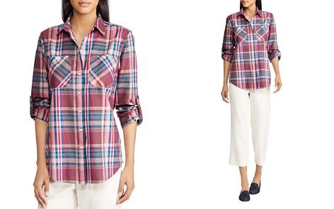 Lauren Ralph Lauren Roll-Sleeve Plaid Shirt - Bloomingdale's_2
