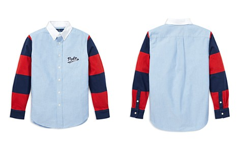 Polo Ralph Lauren Boys' Rugby-Sleeve Cotton Oxford Shirt - Big Kid - Bloomingdale's_2