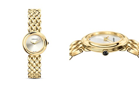 Versace Collection V-Flare Gold Bracelet Watch, 28mm - Bloomingdale's_2