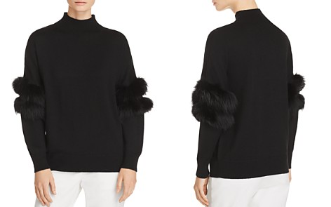 Kobi Halperin Elsa Fur-Trimmed Mock-Neck Sweater - Bloomingdale's_2