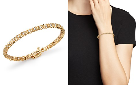 Bloomingdale's Diamond XOXO Eternity Bracelet in 14K Yellow Gold, 1.0 ct. t.w. - 100% Exclusive_2