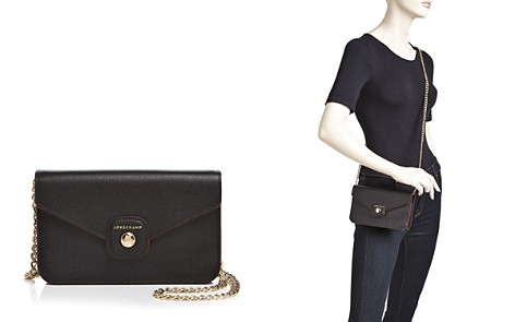 Longchamp Le Pliage Heritage Medlum Wallet on a Chain Crossbody - Bloomingdale's_2