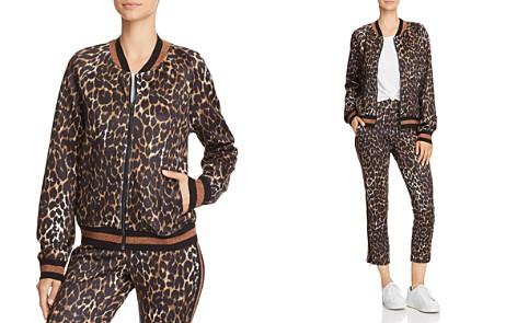 PAM & GELA Leopard Print Track Jacket - Bloomingdale's_2