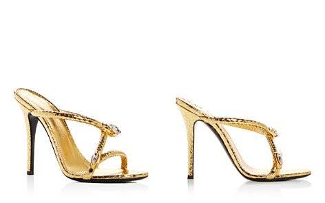 Giuseppe Zanotti Women's Snake Charmer Snake-Embossed Leather High-Heel Slide Sandals - Bloomingdale's_2