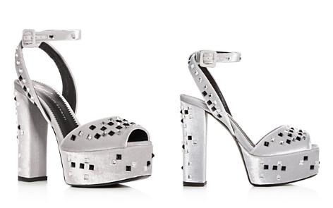 Giuseppe Zanotti Women's Embellished Velvet High Block-Heel Platform Sandals - Bloomingdale's_2