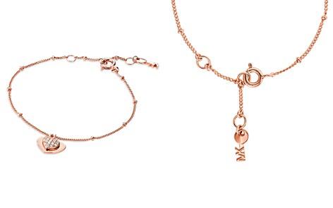 Michael Kors Kors Love Pavé Heart Sterling Silver Bracelet in 14K Gold-Plated Sterling Silver, 14K Rose Gold-Plated Sterling Silver or Solid Sterling Silver - Bloomingdale's_2