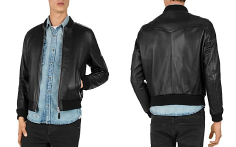 The Kooples Lamb-Leather Bomber Jacket - Bloomingdale's_2