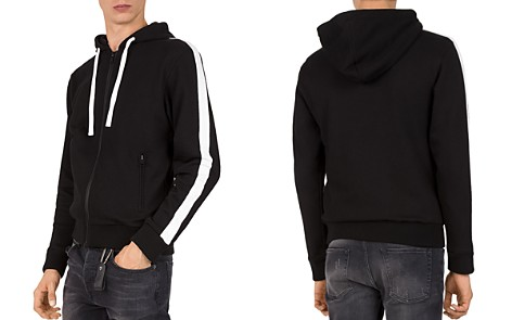 The Kooples Stripe-Sleeve Hoodie - Bloomingdale's_2