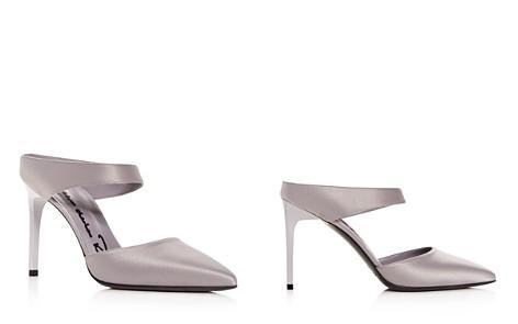 Oscar de la Renta Women's Satin Pointed Toe High-Heel Mules - Bloomingdale's_2