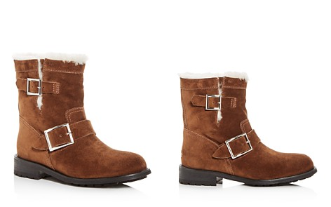 Jimmy Choo Women's Youth Suede & Shearling Moto Boots - Bloomingdale's_2