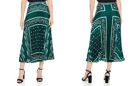 Sandro Mercedes Bandana-Print Midi Skirt - Bloomingdale's_2