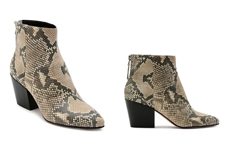 Dolce Vita Women's Almond Toe Snakeskin-Embossed Leather Booties - Bloomingdale's_2