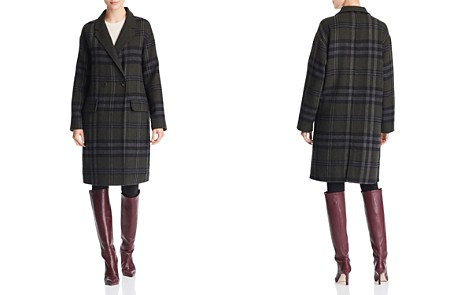 Bernardo Double-Breasted Plaid Coat - Bloomingdale's_2