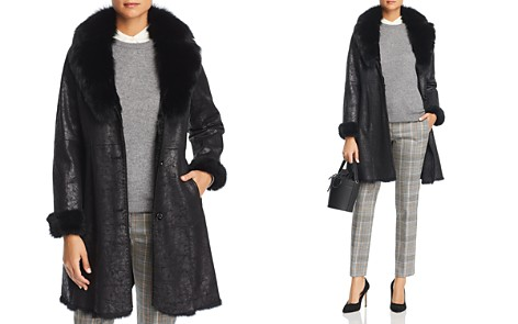 Maximilian Furs Rabbit Fur Coat with Fox Fur Collar - Bloomingdale's_2
