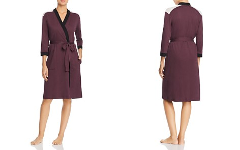 Naked Combed Cotton Colorblock Short Robe - Bloomingdale's_2