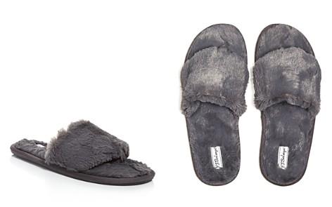 PJ Salvage Faux Fur Slide Slippers - Bloomingdale's_2