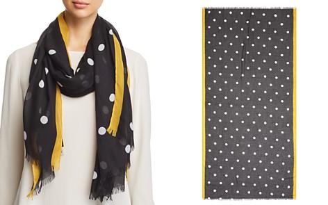 AQUA Border-Stripe Polka Dot Scarf - 100% Exclusive - Bloomingdale's_2