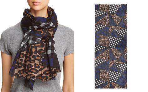 AQUA Patchwork-Print Wool Scarf - 100% Exclusive - Bloomingdale's_2