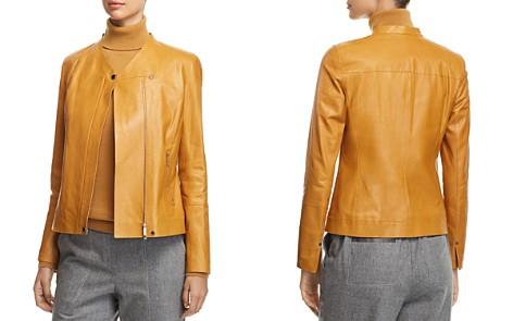 Lafayette 148 New York Devlin Leather Moto Jacket - Bloomingdale's_2