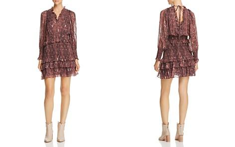 Rebecca Taylor Snake-Print Ruffle-Trim Dress - Bloomingdale's_2