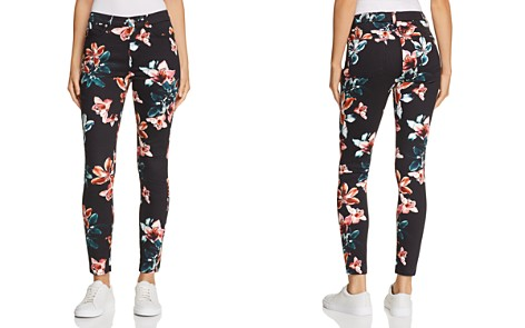 7 For All Mankind Printed Ankle Skinny Jeans in Moonlight Orchid - Bloomingdale's_2