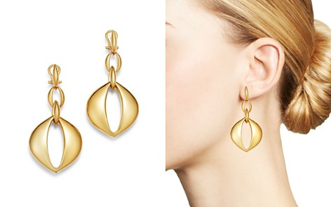 Bloomingdale's Oval Drop Earrings in 14K Yellow Gold - 100% Exclusive_2