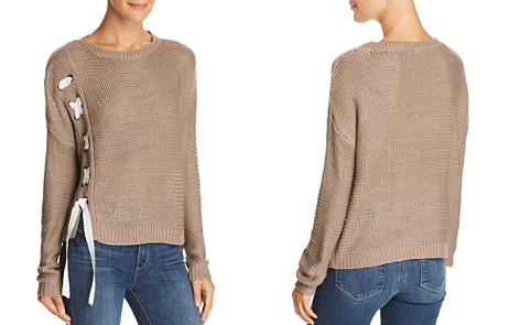 AQUA Lace-Up Side Sweater - 100% Exclusive - Bloomingdale's_2