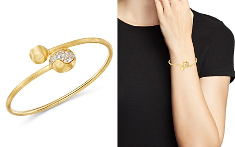 Marco Bicego 18K Yellow Gold Africa Pavé Diamond Boules Bangle - Bloomingdale's_2