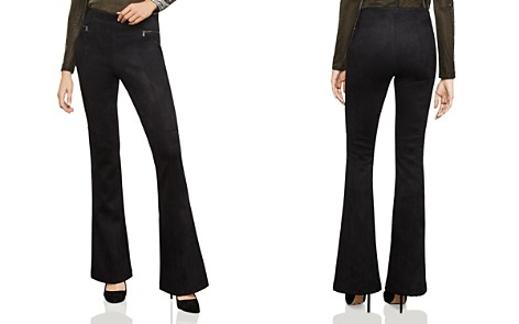BCBGMAXAZRIA Faux Suede Flared Leggings - Bloomingdale's_2
