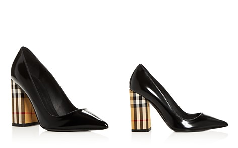 Burberry Women's Dashwood Pointed Toe High Block-Heel Pumps - Bloomingdale's_2
