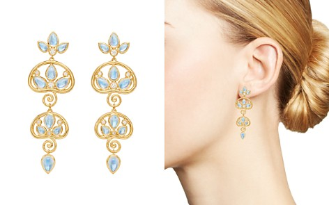 Temple St. Clair 18K Yellow Gold Perse Moon Blue Moonstone & Diamond Double Drop Earrings - Bloomingdale's_2