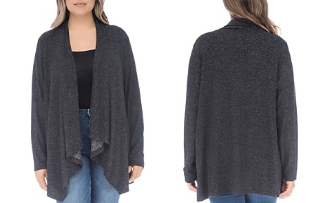 B Collection by Bobeau Curvy Ami Open Waterfall Cardigan - Bloomingdale's_2