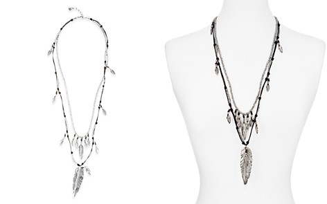 "Uno de 50 Strut Layered Feather Pendant Necklace, 30"" - Bloomingdale's_2"