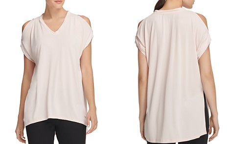 Donna Karan New York Relaxed Cold-Shoulder Tee - Bloomingdale's_2