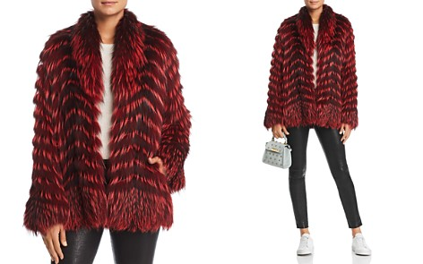 Maximilian Furs x Zac Posen Feathered Fox Fur Coat - 100% Exclusive - Bloomingdale's_2